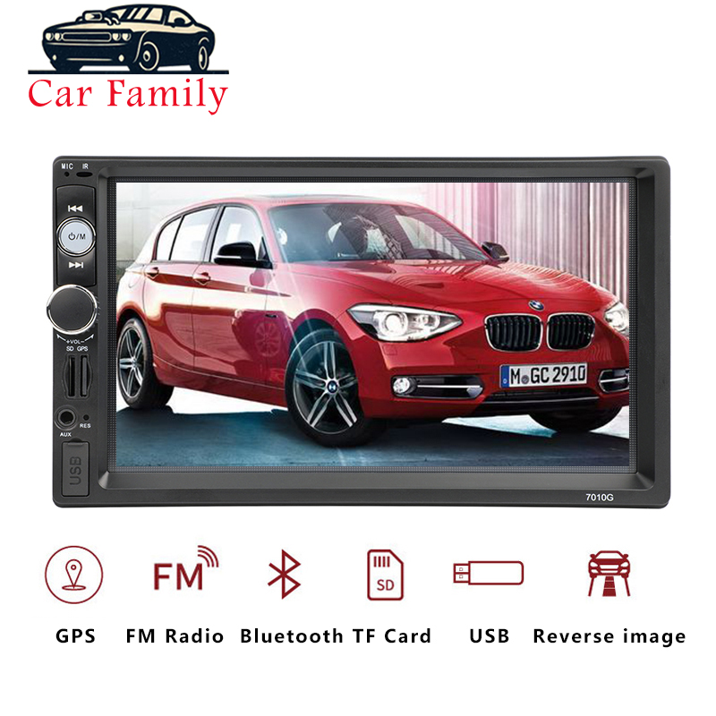 2 Din Autoradio Car Radio Multimedia Player GPS Navigation Camera Bluetooth MP4 MP5 Stereo Audio Auto Electronic Steering-wheel