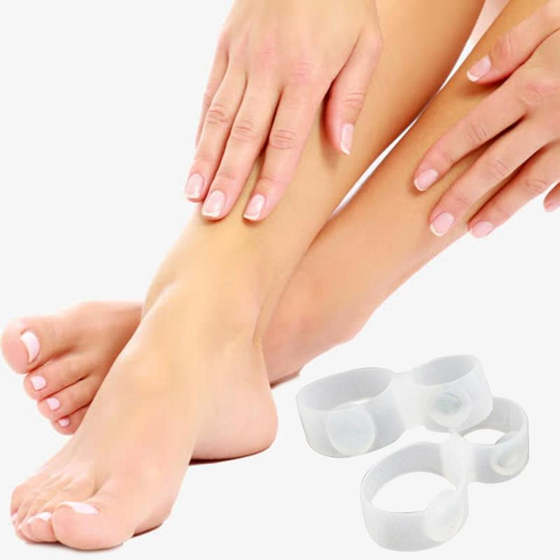 1 пара магнитное кольцо пластмассы и магниты Практичный Прочный корректор похудения сжигатель жира силиконовый массажер для ног