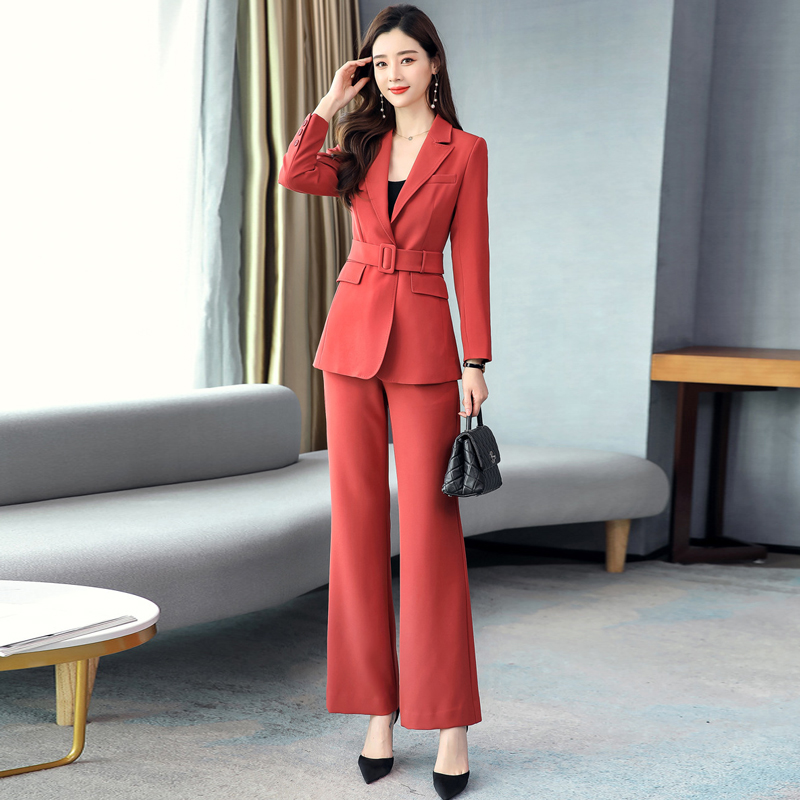 2020 Spring And Autumn Women's Suit Pants High Quality Casual Business Wear Elegant Lady Blazer Jacket Feminine Casual Trousers
