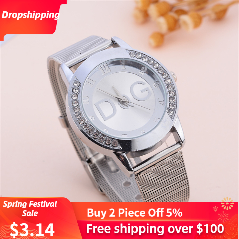 2019 New Fashion Watches European Popular Style Women Luxury Brand Quartz Wristwatches Reloj Mujer Casual Stainless Steel Clock