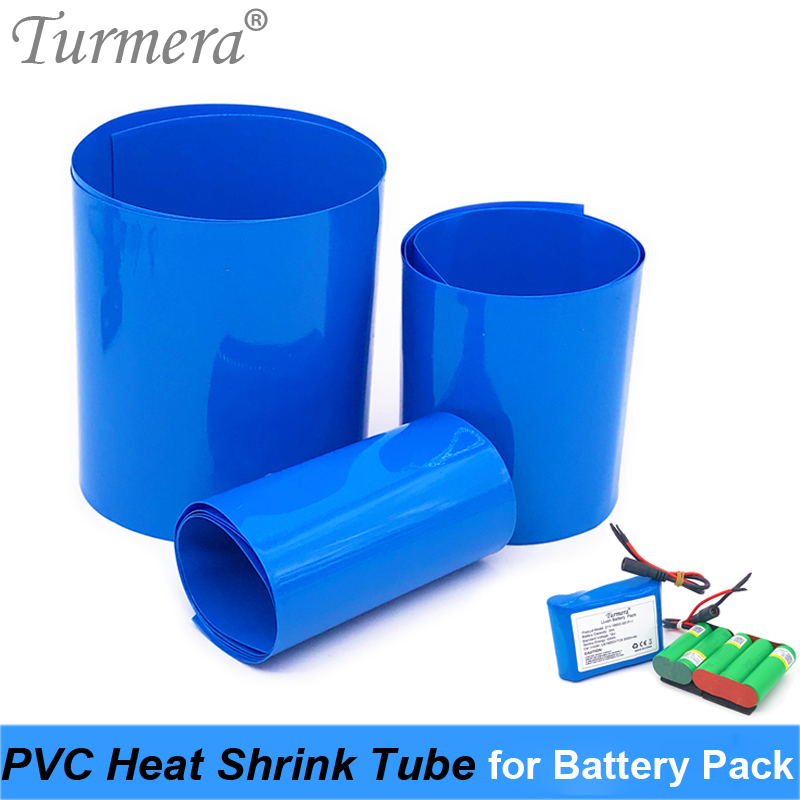Turmera Battery Wrap Heat Shrinkable Tube PVC Shrink Tubing 35mm To 210mm For 18650 26650 32700 Lithium Battery Pack Customize