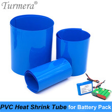 Turmera enveloppe de batterie Tube thermorétractable PVC Tube rétractable 35mm à 210mm pour 18650 26650 32700 batterie au Lithium Pack personnaliser(China)