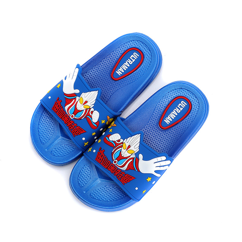 Summer Baby Slippers For Kids Beach Sandal Cartoon Ultraman Flip Flops Toddler Girl Indoor Non-slip Shoes Children Home Slippers