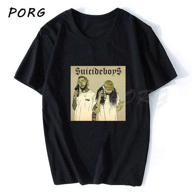 Camiseta de hombre $ uicideboy $ Suicide Boys, camiseta para hombres Suicideboys Hip Hop Rap, Camiseta de algodón para hombres, camiseta guay clásica de talla grande