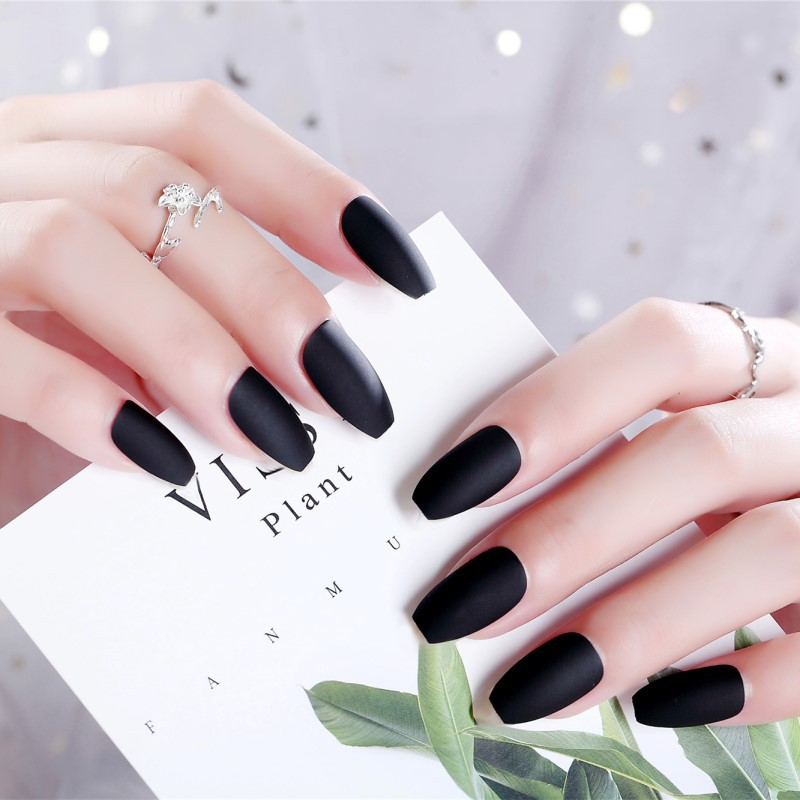 Wear Manicure Mid-length Nail Tip Dark Social Gothic Ballet A Fake Nails PCs Manicure Stickers 128