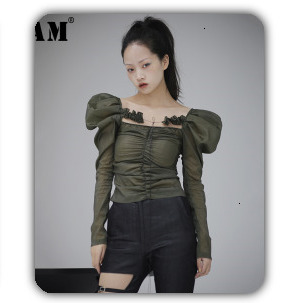 [EAM] 2020 New Spring Lapel Long Sleeve Solid Color Black Gray Split Joint Loose Big Size Jacket Women Fashion JC969 67