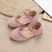 Silver Pink Black baby girl shoes Kids sandals children Rhinestone Princess shoes girls Single Shoes For wedding and party 1-15T rose pink red orange children princess shoes baby girls shoes kids bows rhinestone girls leather shoes kids party shoes 3 15t