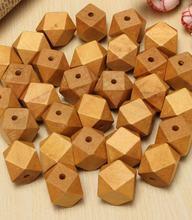 200 шт крупные геометрические деревянные бусины светильник коричневые