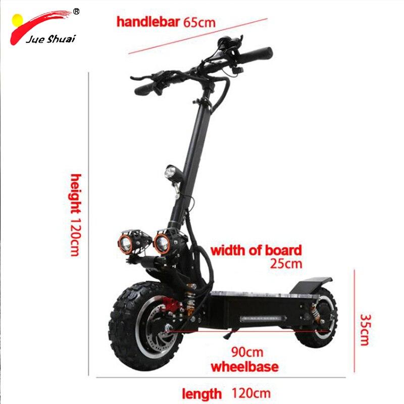 """Nouveau Style 60V 3200W 11 """"Scooter électrique 26A 30A Samsung batterie au Lithium 110KM Scooter électrique en alliage d'aluminium Patinete Eletrico"""