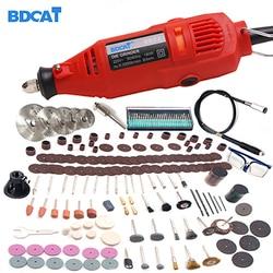 BDCAT 220V Power Tools Elektrische Mini Bohrer mit 0,3-3,2mm Univrersal Chuck & Shiled Dreh Werkzeuge Kit set Für Dremel 3000 4000