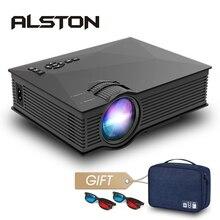 ALSTON UC68/UC68H светодиодный проектор UC46 Plus обновленная версия домашнего кинотеатра 2400 люмен AV HDMI USB Miracast/Airplay