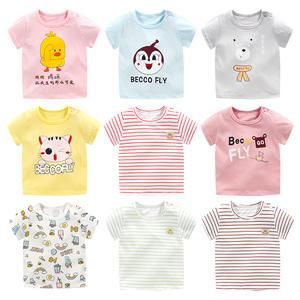 Tee T-Shirts Girls Baby Boys Clothing Tops Cotton Fashion Comfortable Cartoon-Print Kids