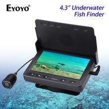 """Eyoyo 15 м подводная камера для рыбалки 4,"""" ЖК-монитор рыболокатор 1000TVL 120 градусов видеокамера зимняя ледовая Рыбалка"""
