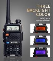 מכשיר הקשר 2X5W DTMF מכשיר הקשר Retevis RT-5R Portable Ham Radio 128CH UHF / VHF רדיו שני הדרך רדיו Hf Trasceiver 1800mAh סוללה EEShip (2)