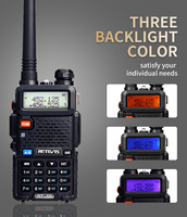 vhf uhf 2X5W DTMF מכשיר הקשר Retevis RT-5R Portable Ham Radio 128CH UHF / VHF רדיו שני הדרך רדיו Hf Trasceiver 1800mAh סוללה EEShip (2)