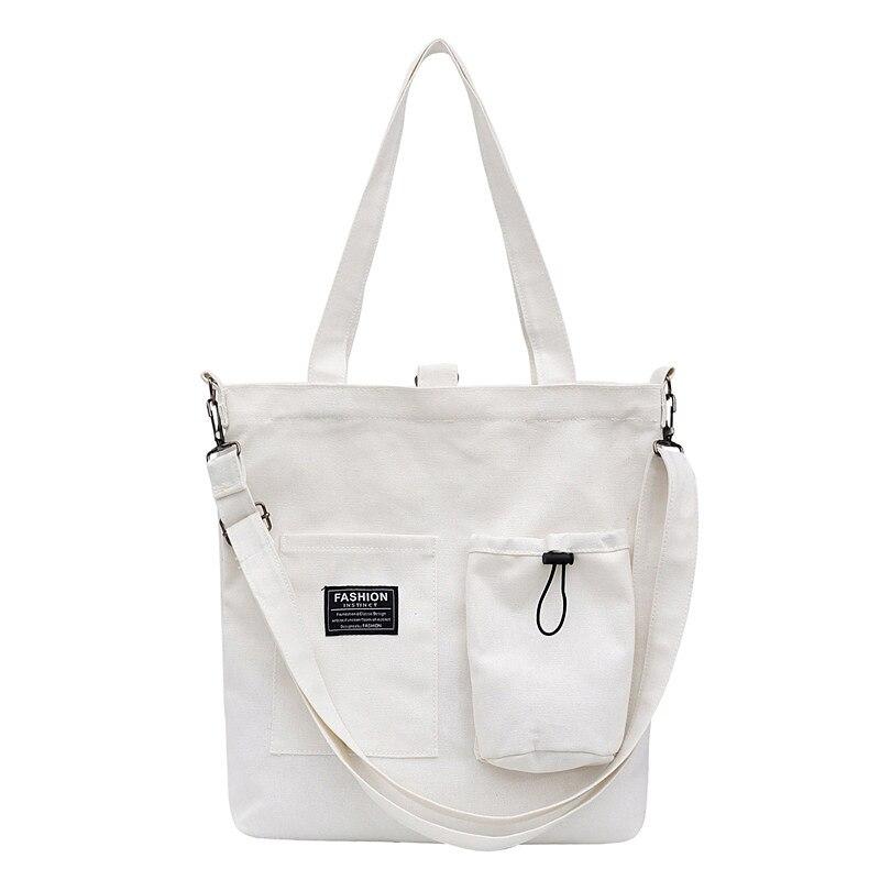 For Women 2020 Large Capacity Ladies Canvas Shoulder Bags Shopping Bag Tote Crossbody Bags Purses Casual Handbag Eco Shopper Sac