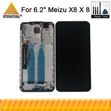 """6.2 """"originale Axisinternational Per Meizu X8 X 8 LCD schermo di Visualizzazione Dello Schermo Con Frame + Touch Screen del Pannello Digitizer Per meizu X8 M852H"""
