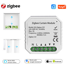 Tuya ZigBee Intelligent Curtain Module Intelligent Home Module For Roller Shutter Blind Motor Compatible with Alexa Google Home