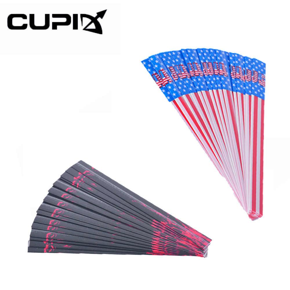 15Pcs//set Heat Shrink Paper Carbon//Aluminum Arrow Stickers Archery Accessory