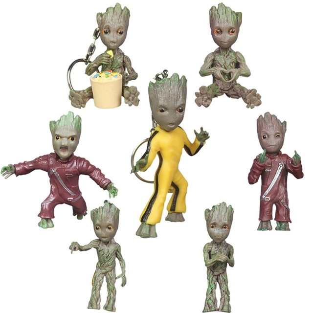 Baby Groot Keychains Guardians of The Galaxy 2