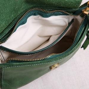 Image 4 - AETOO oryginalne torebki ze skóry ręcznie robione mini torebka sztuka ze skóry proste ramię retro kobiety Messenger mała torba kwadratowa