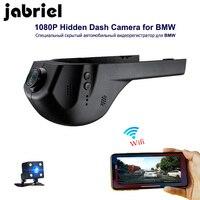 Jabriel 1080P Wifi скрытый Автомобильный видеорегистратор dvr камера заднего вида для bmw 1,2, 3,5, 7 серий, X1/X3/X5/X6 E46 E90 F30 E39 E60 F10