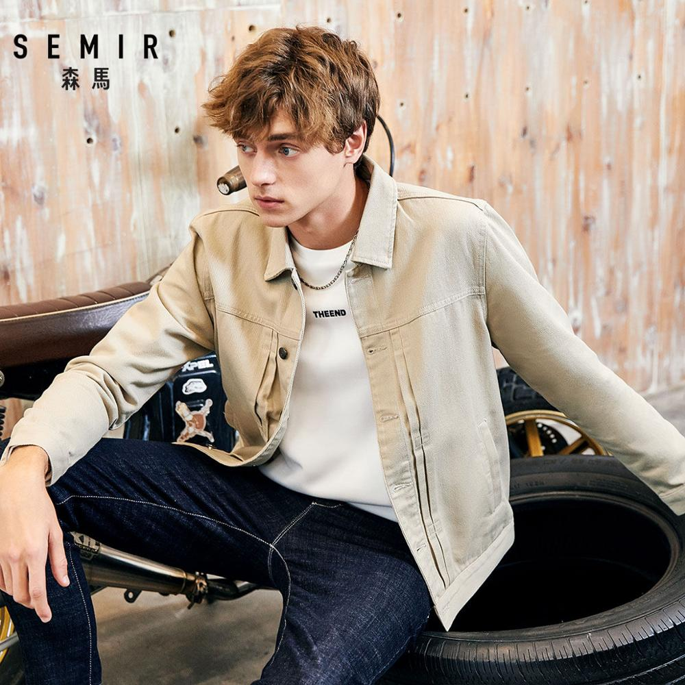 Semir Jacket Men 2019 Spring And Autumn New Cotton Denim Jacket Man's Tide Korean Casual Shirt College Wind