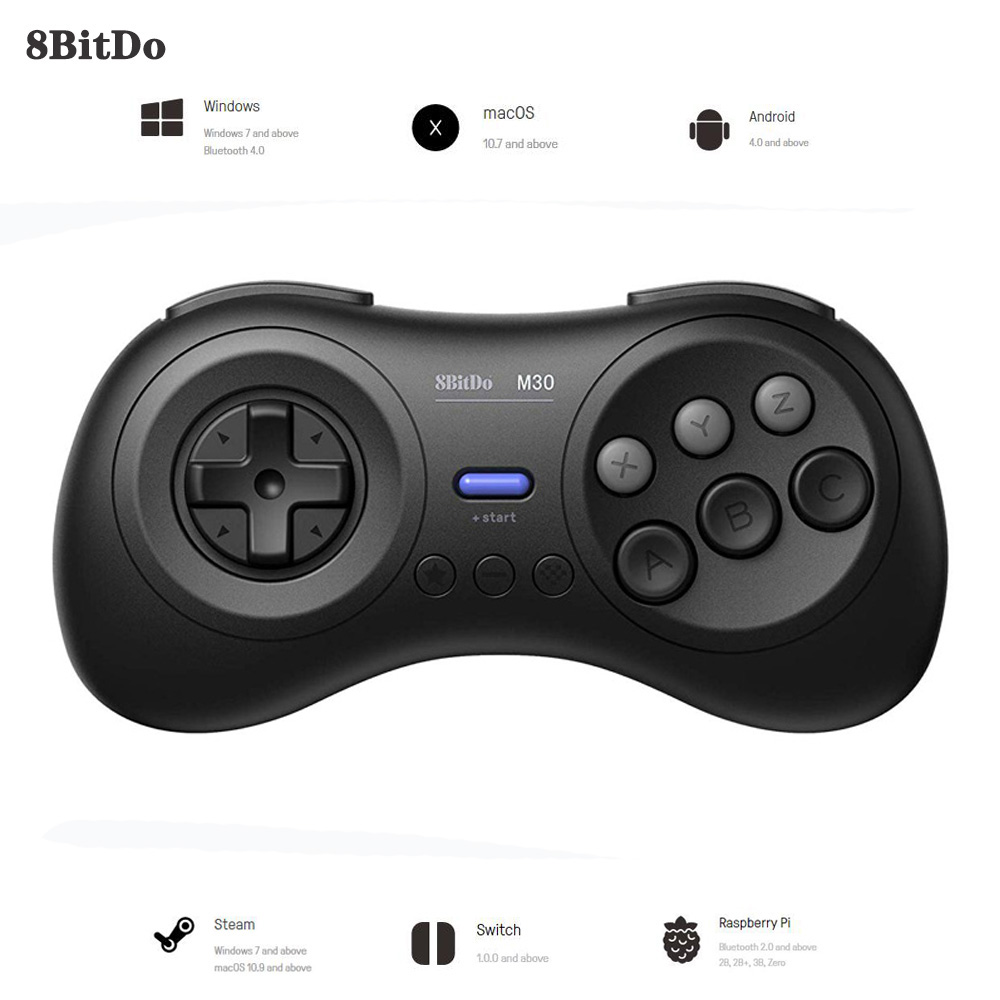 WUIYBN 8BitDo M30 Bluetooth Gamepad Wireless Controller Joystick For Nintendo Switch PC macOS and Android