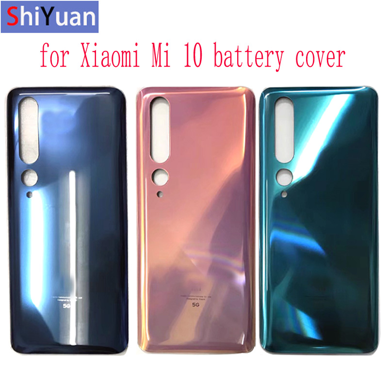For Xiaomi Mi 10 5G Battery Cover , Rear Door Replacement Back Cover for Xiaom Mi 10 5G Housing in Green  Grey  Gold Color