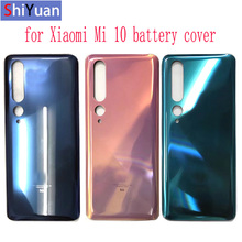 For Xiaomi Mi 10 5G Battery Cover , Rear Door Replacement Back for Xiaom Housing in Green  Grey Gold Color