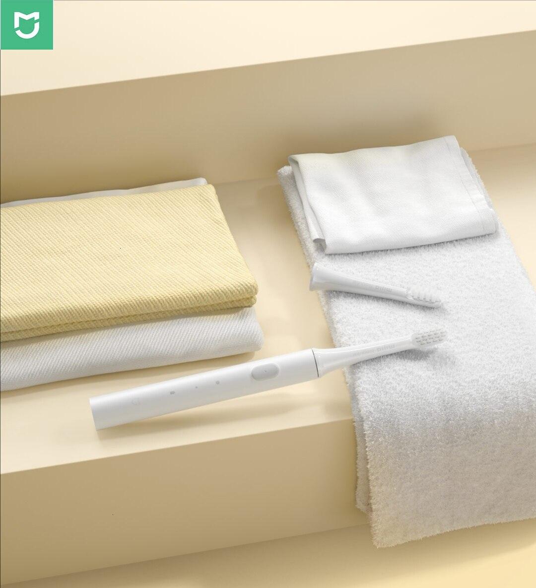 46g Original Xiao mi mi jia T100 mi brosse à dents électrique intelligente à deux vitesses Mode de nettoyage 30 jours dernière Machine Xio mi mi brosse à dents à domicile