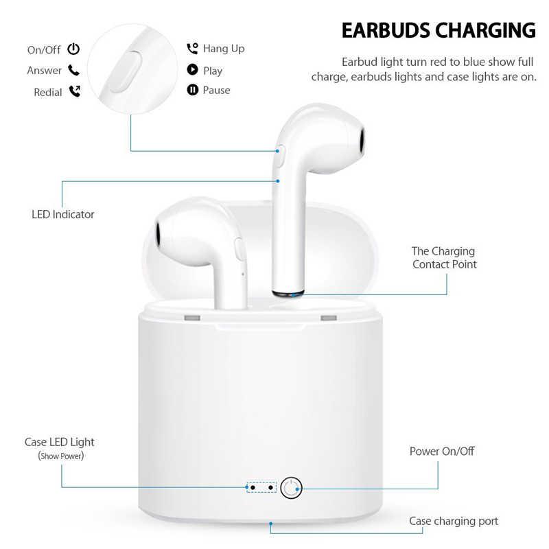 I7s TWS หูฟังไร้สายบลูทูธ 5.0 หูฟังหูฟังกีฬาหูฟังพร้อมไมโครโฟนสำหรับโทรศัพท์สมาร์ท Xiaomi Samsung Huawei LG