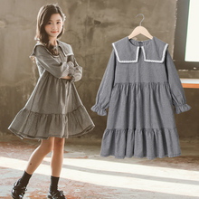 Thời Trang Mùa Xuân Đầm Công Chúa Bé Gái Cotton 2020 Đen Trắng Kẻ Sọc Tập Đi Trẻ Em Tay Dài Quần Áo Trẻ Em Bé Gái Áo
