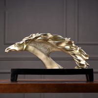 Modern Luxury Resin Horse Sculptures Accessories Home Livingroom Furnshing Decoration Crafts Office Study Room Table Figurines