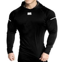 Новые мужские толстовки для фитнеса однотонный спортивный свитшот