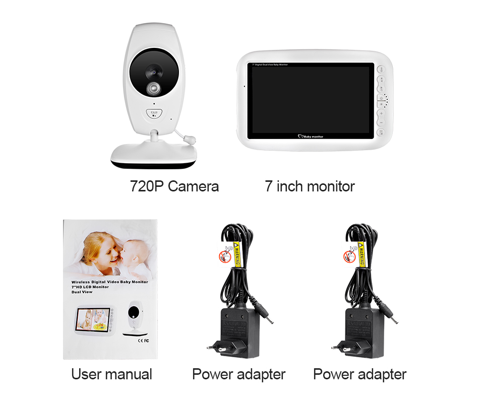 7 Inch Wireless Baby Monitor With 720P HD Screen Camera To Check Your Baby Monitor Screen 20