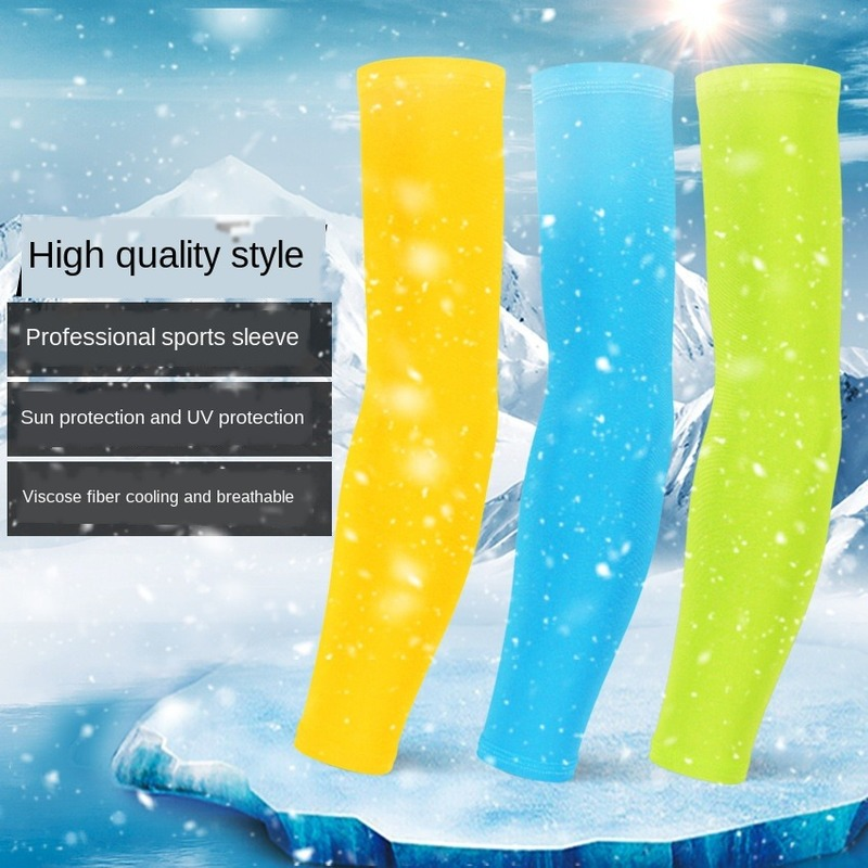 Silicone anti-skid sports armband compression sleeve basketball riding arm warm summer running UV protection sunscreen belt
