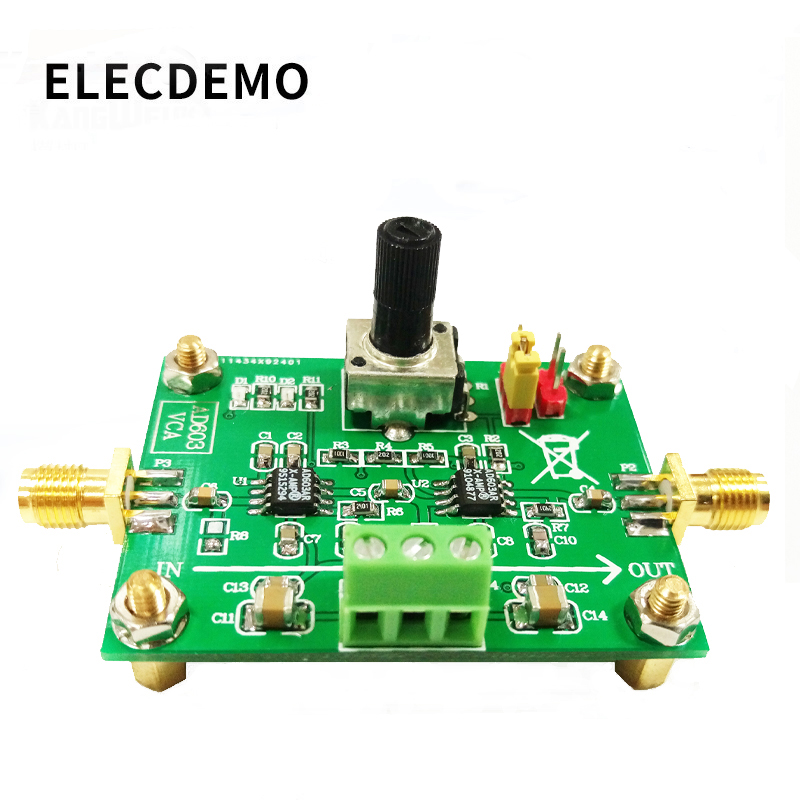 AD603 Variable Gain Amplifier Module Voltage Control Adjustable VCA Race 80dB