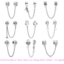 2019 New Alloy Pesona Manik-manik Bintang Cinta Hati Mickey Safety Chain Rose Emas Stopper Wanita Fit Pandora Gelang DIY perhiasan(China)