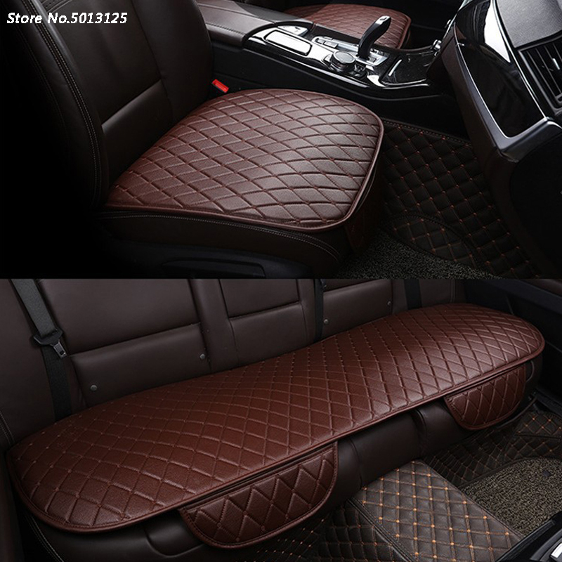 3PCS Breathable Car Seat Cushion Protector Pad Front Rear Pad Four Seasons Mat For Volkswagen VW Tiguan MK2 2017 2018 2019 image