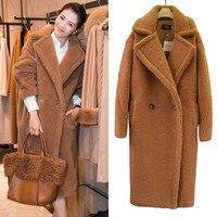 Winter coat women lamb coat loose warm Long Fur Coat Teddy bear coat Women faux fur coat