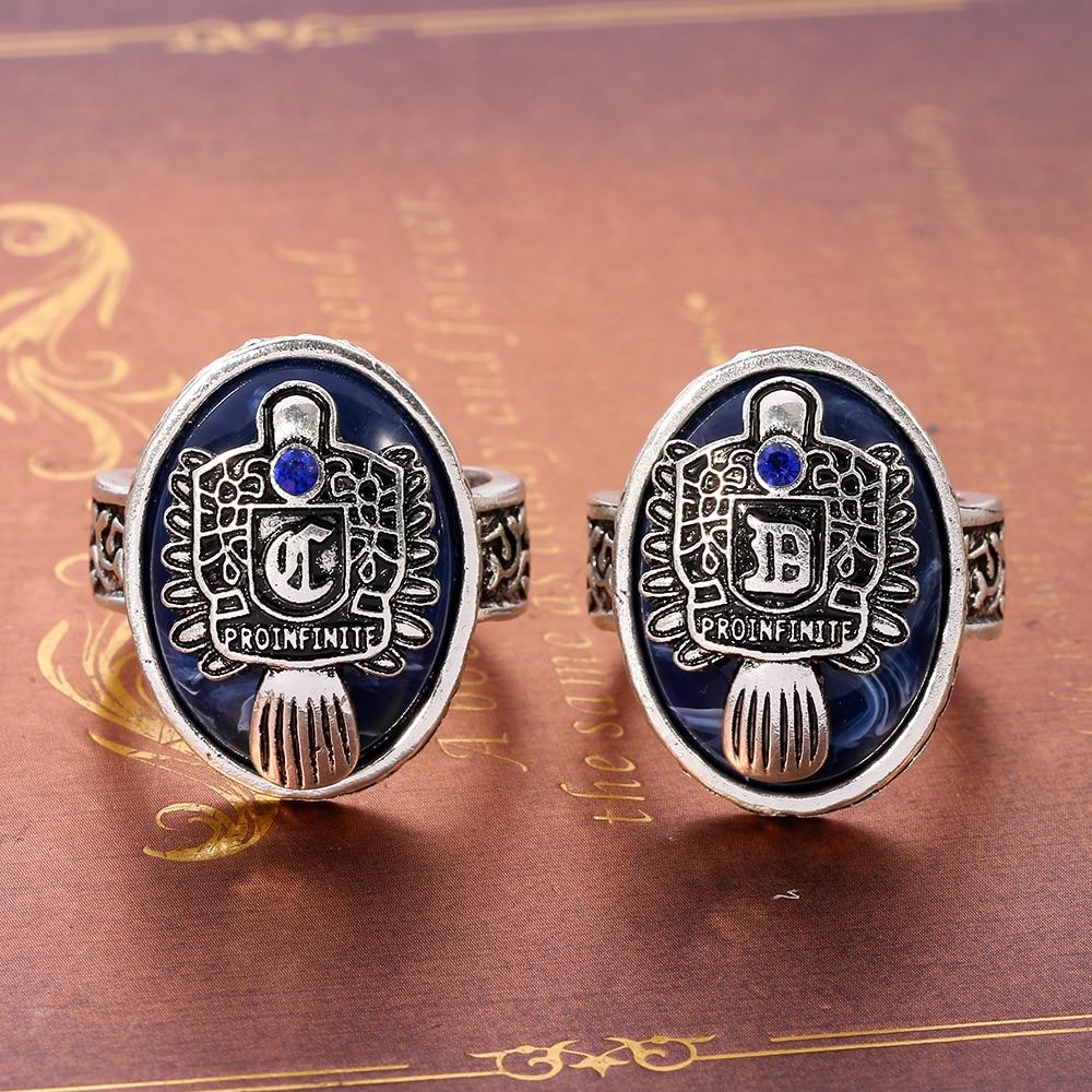 A-Z кольца с буквами на заказ, кольца дневного света для мужчин и женщин, Дневники вампира, кольца Елены Гилберта, ювелирные изделия для фильм...
