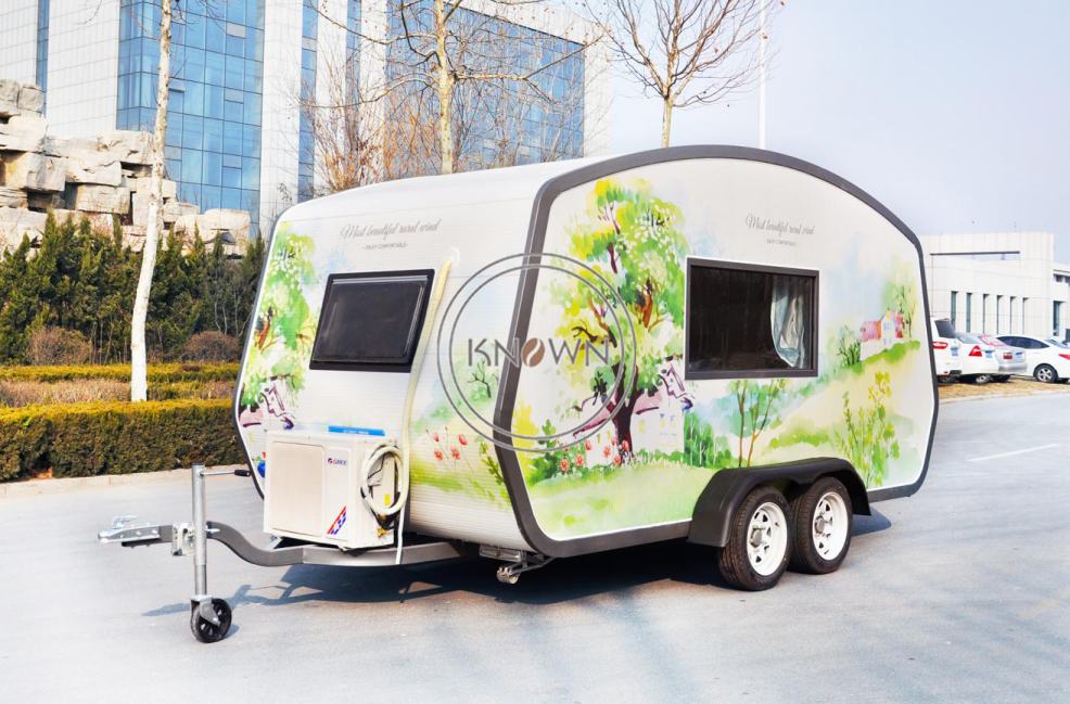 2019 New Design  5.6m Long  Food Trailer Mobile Fast Food Truck Customized Food Cart Trailer By Sea