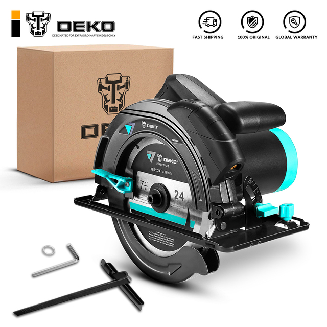 DEKO DKCS185L1 185mm, 1500W Electric Circular Saw,Multifunctional Cutting Machine, With Laser Guide and Auxiliary Handle 1