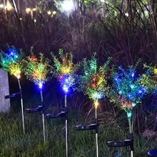 Солнечный светильник, светодиодный солнечный светильник для украшения сада, газон, светильник s/Рождественская елка, уличный водонепроницаемый садовый светильник
