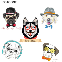 ZOTOONE iron on patches lot T-Shirt Diy Patches Dog Printed Clothes Vinyl Applique Heat Transfers Iron for Clothing F