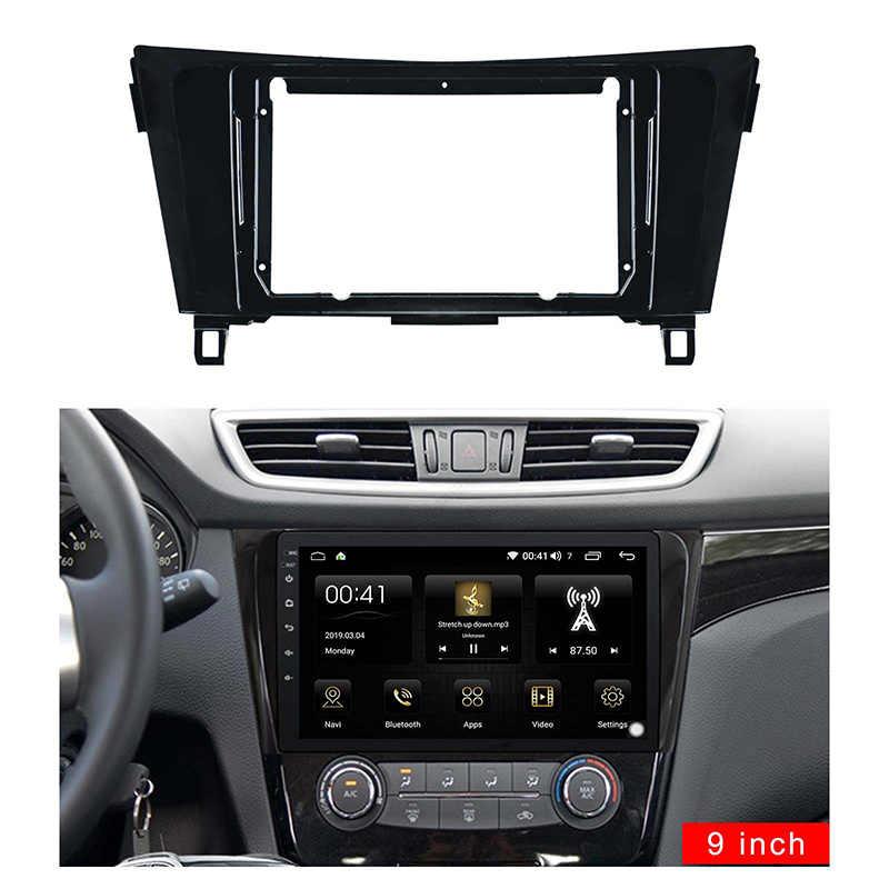 Fascia de radio de coche de 9 pulgadas 2din para NISSAN Qashqai X-Trail 2015-2018 adaptador de conexión de Audio de Fascia en -Kits de marco de dvd de Panel de salpicadero