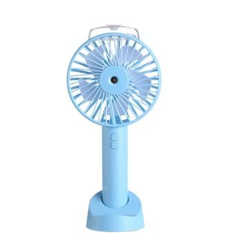 Mini Handheld Spray Small Fan USB Charging Portable Desktop Humidifier Fan Third Gear Adjustable Home Office Mute Cooling Fan