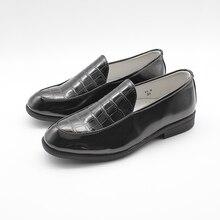 Chłopcy formalne buty dzieci szkoła młodzieży PU jak ze skóry poślizgu na ślub inteligentne nowy