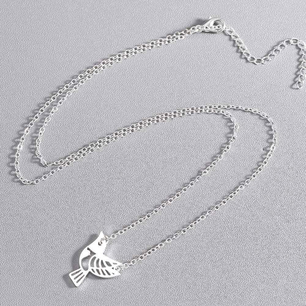 チャンドラー手作り折り紙動物ネックレスステンレス鋼中空ユニコーン亀の花鹿鳥ペンダントネックレス